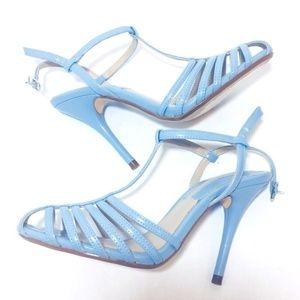 ZARA Strappy Baby Blue Heels